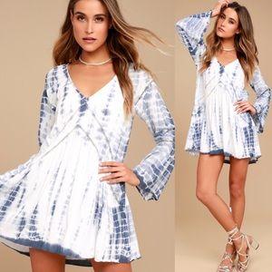 Revolve | Amuse Society Topaz Tie Dye Hippie Dress